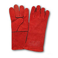 Перчатки рабочие крага сварщика красная (Польша)
