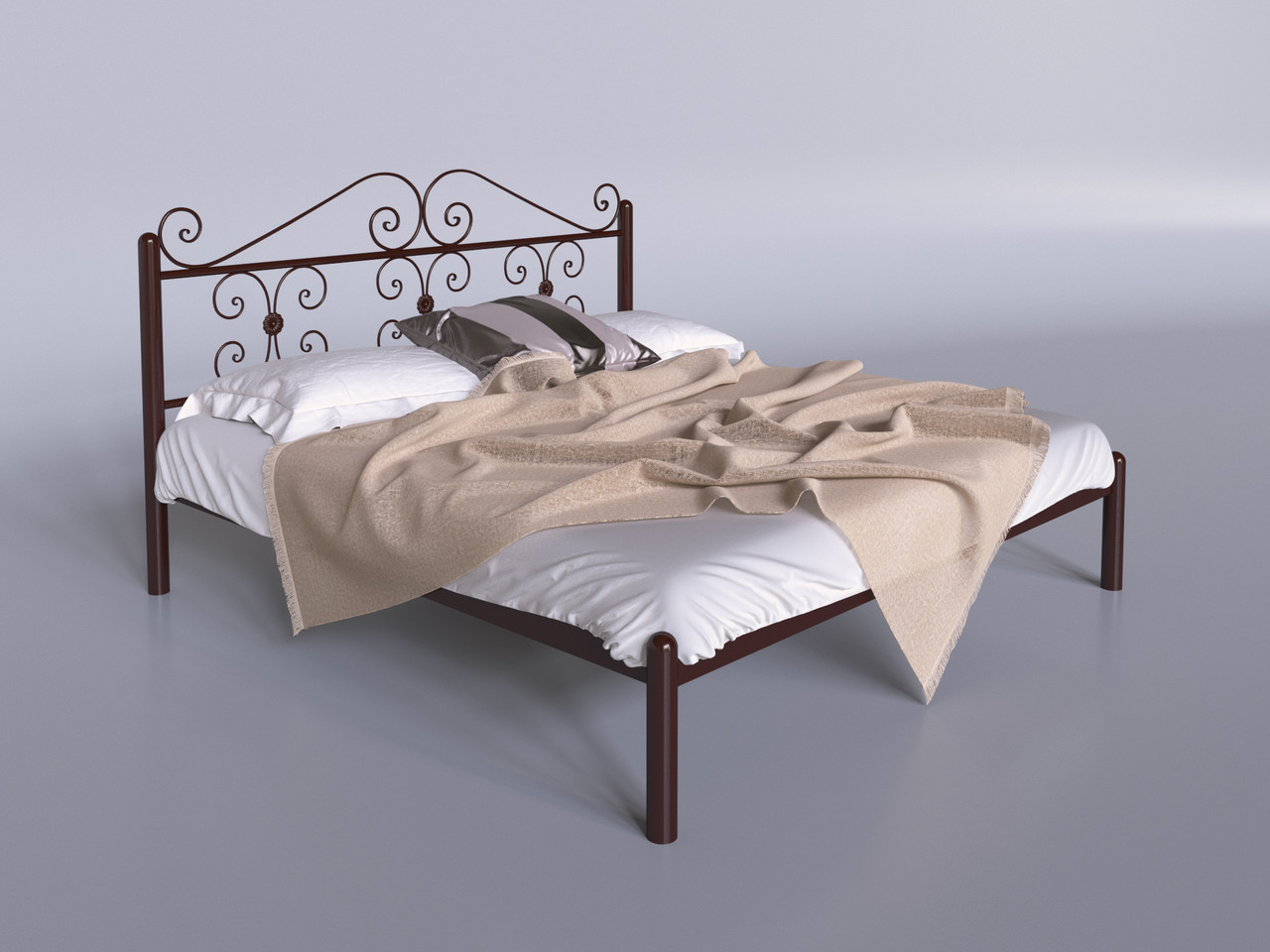 Металлическая кровать Tenero  Бегония двуспальная 1900 мм