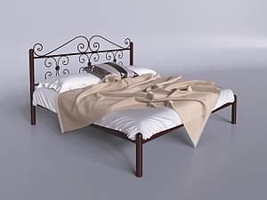 Двуспальная кровать Tenero Бегония металлическая коричневая
