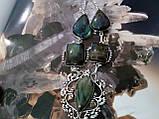 Ожерелье с лабрадором. Красивое колье с камнем лабрадор в серебре. Индия!, фото 3