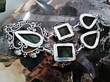 Ожерелье с лабрадором. Красивое колье с камнем лабрадор в серебре. Индия!, фото 6