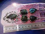 Ожерелье с лабрадором. Красивое колье с камнем лабрадор в серебре. Индия!, фото 4
