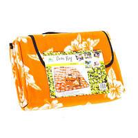Оранжевый туристический коврик для пикника 130*170см, G04