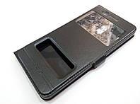 Чехол книжка с окошками momax для Nokia 6 черный