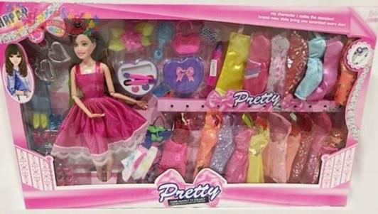 Кукла с платьями и аксессуарами 9296А