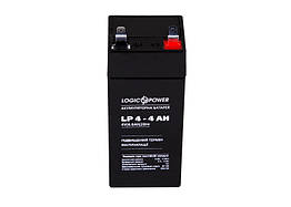 Свинцово-кислотный аккумулятор Battery LogicPower 4V, 4Ah