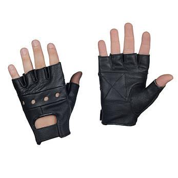 Перчатки без пальцев кожаные, фото 2