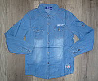 Джинсовая рубашка на мальчика оптом, S&D, 4-12 лет,  № KK-345, фото 1