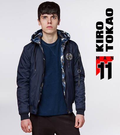 11 Kiro Tokao | Мужской бомбер. демисезон 322 т.синий-камуфляж