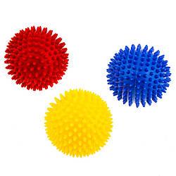 Мяч с шипами для  массажа диаметр 9см