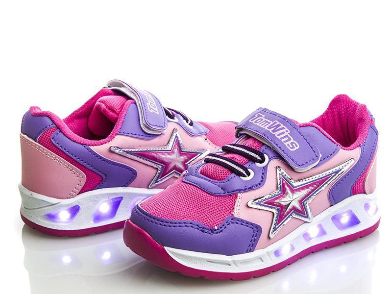 a5a9cbd2 Яркие светящиеся кроссовки на девочку. Размеры 26-30 -
