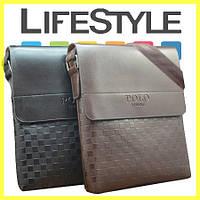 Мужская кожаная сумка Polo Videng New
