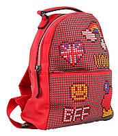 Модный рюкзак-сумка, красный