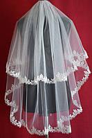 Фата для невесты с кордовым кружевом sf-006