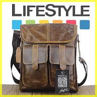 Мужская сумка WESTAL! Натуральная кожа! + ПОДАРОК (Кошелек)