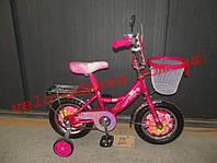 Детский двухколесный ПРИНЦЕССА - велосипед 14 дюймов +корзинка
