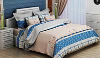 Полуторный комплект постельного белья 150х220 из бязи Голд  Три ромашки