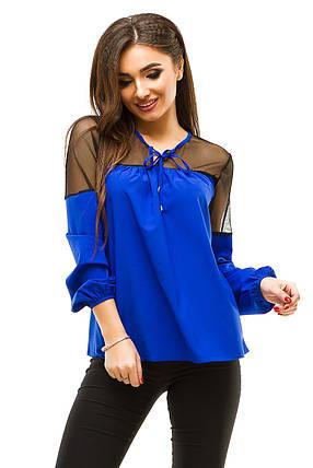 Ж273 Красивая блузка с широкими манжетами (42-48), фото 2