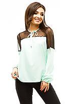 Ж273 Красивая блузка с широкими манжетами (42-48), фото 3