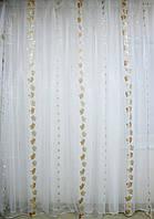 Гардины с золотисто-серебристыми цветами Т58