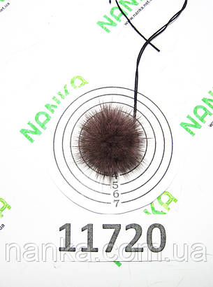 Меховой помпон Норка, Лавандовый, 4 см, 11720, фото 2