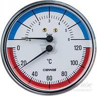 Термоманометр TRP 80 VI  80мм  4bar / 120C осевой (аксиальный) с обратным клапаном Cewal  (Италия)
