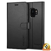 Книжка-Чехол Spigen для Samsung S9 Wallet S, Black