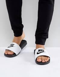 18a79c20 Мужские спортивные тапочки Nike Benassi JDI Slide 343880-100 Белый с черным  - iSportShop в