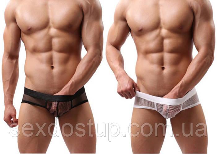 Сексуальные мужские боксерки сетка