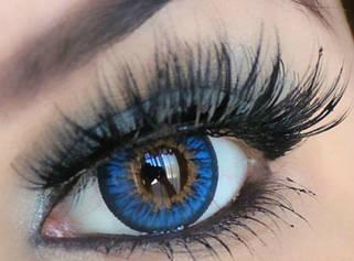 Голубые, синие линзы