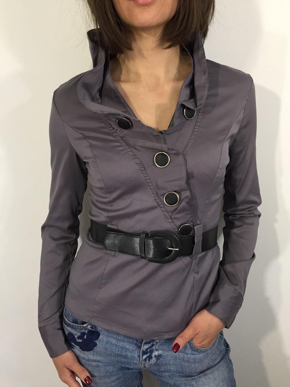 Рубашка женская 2683 серая XXXL