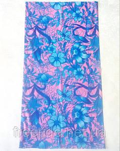 Летний бафф, buff, бесшовный шарф, повязка (#463)