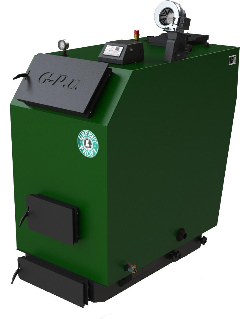 Промышленные твердотопливные котлы отопления длительного горения Gefest-Profi U 150 (Гефест Профи У)