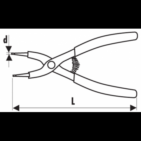 Съёмник стопорных колец сжатие 1,8 мм/90° Stanley Expert E117922