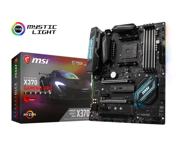 "Материнская плата MSI X370 Gaming Pro Carbon AM4 DDR4  ""Over-Stock"" Б/У"