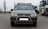 Кенгурятник Chevrolet Niva, с грилем и надписью