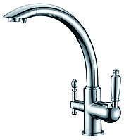 Смеситель для кухни с подключением фильтрованной воды  Zorg ZR 314 YF 33 Хром, фото 1