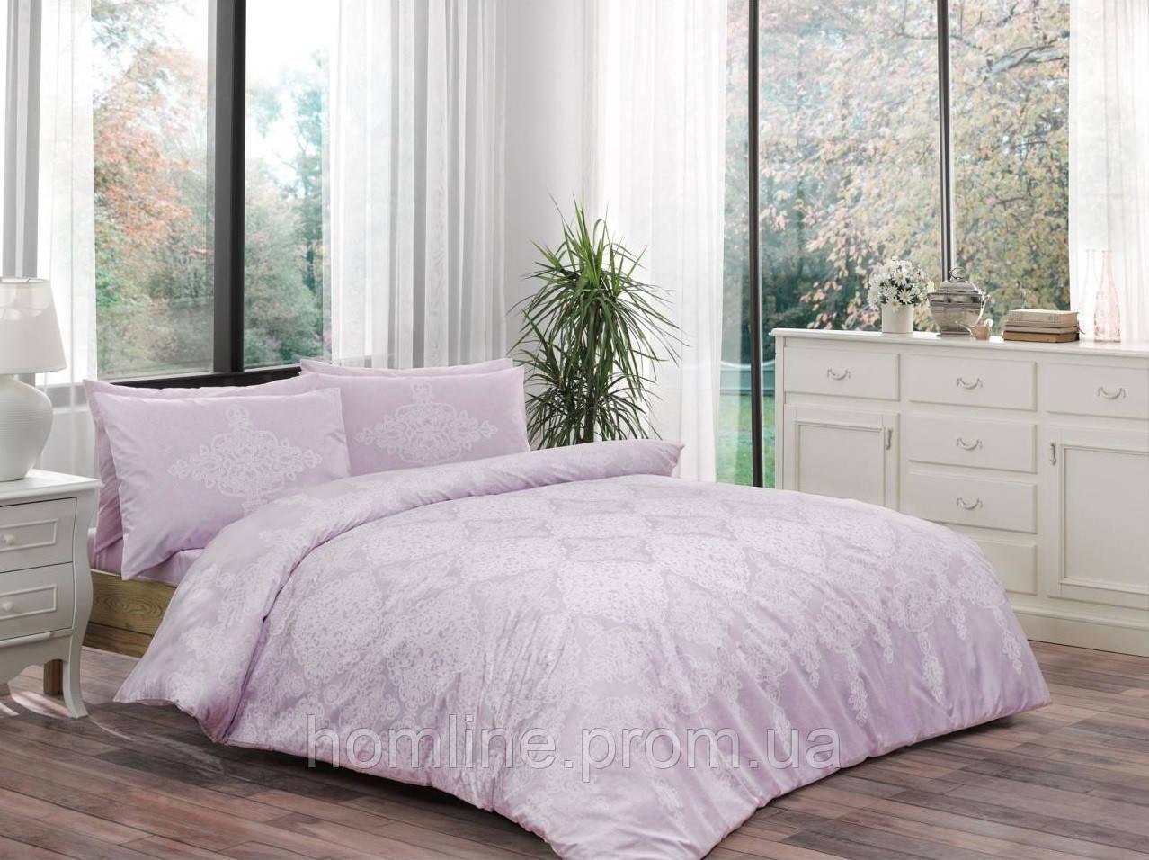 Постельное белье Tac ранфорс Blanche лиловое двухспального евро размера