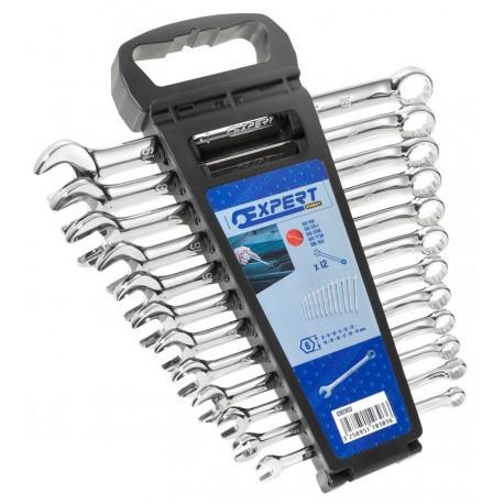 Набор ключей комбинированных 12 ед. (8-19мм) пластиковый держатель Stanley Expert E110303