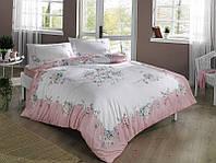 Постельное белье Tac ранфорс Madelyn розовое двухспального евро размера