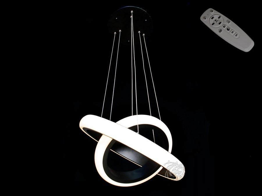 Люстра светодиодная 8102-500+350 Black 40w dimmer