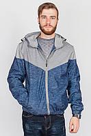 Ветровка стильная мужская  629K001-1 (Темно-синий меланж)