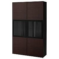 IKEA BESTA Сервант, черно-коричневый, черно-коричневый (792.055.03)