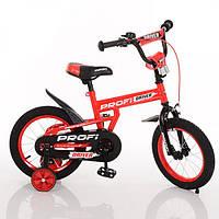 Велосипед детский PROF1 12д. L12112, Driver, красный, доп.колеса