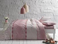 Постельное белье Tac ранфорс Sally розовое двухспального евро размера