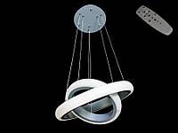 Люстра светодиодная 8102-500+350 Gray 40w dimmer