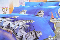 Евро комплект постельного белья с красивым рисунком.  Размер : ― Пододеяльник ( 200 см х 220 см ) ― Простынь (