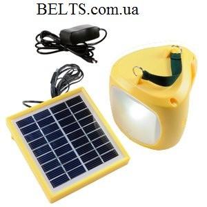 Туристический фонарь на солнечной батарее и зарядкой для телефона Solar Lantern GC-501B, туристическая лампа 5