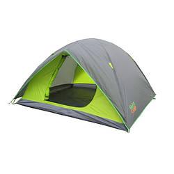 Удобная двухслойная палатка 4-х местная GreenCamp 1018-4