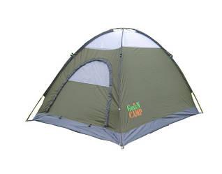 Серая палатка 2-х местная GreenCamp 1503
